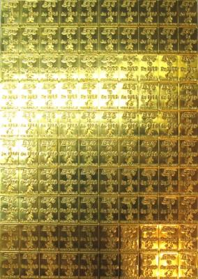 Een puur goudbaartje van één gram