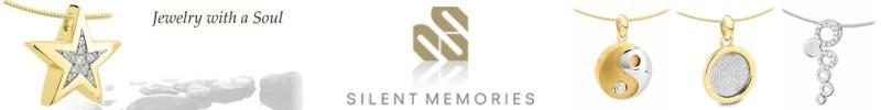 Silent memories wit- met geelgouden ashangers en vingerafdrukken