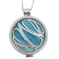 044 MY iMenso zilveren hanger met collier babyblauw
