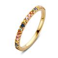 Damesring RG137121 Goud met multicolour echte saffier
