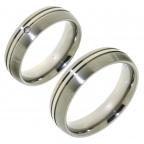 Titanium trouwringen met diamant voor €129