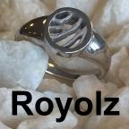 Royolz doorzichtige sieraden met vingerafdruk