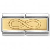 03071007 Nomination infinity dubbel goud