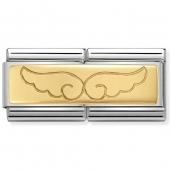 03071008 vleugels dubbele schakel goud Nomination