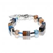 0732 armband Blue-Brown-Beige Coeur de Lion 2838300732