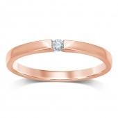 .Damesring GTD702-05-R rosé goud met 0.05 crt. briljant