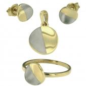 set ring oorknoppen hanger geelgoud gerhodineerd XIA_S002 VI8 F002 VIK 4004