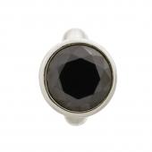 41158-4 Endless charm round black dome silver