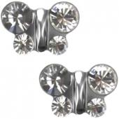249 Oorknoppen Butterfly Crystal