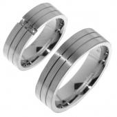 V02 vriendschapsringen zilver Merci Duette 6.2 mm