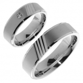 V04 Merci Duette vriendschapsringen zilver 6.2 mm