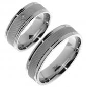 V06 zilveren vriendschapsringen Merci Duette 6.4 mm