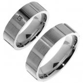 V07 Merci Duette zilveren vriendschapsringen 6.2 mm
