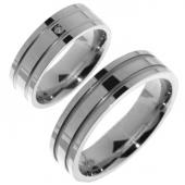 V08 vriendschapsringen zilver Merci Duette 6.3 mm