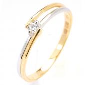 Damesring AH085 goud met zirconia