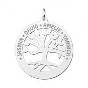 ZFH03 zilveren naamhanger stamboom