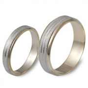1010 Trouwringen bicolour goud 4+6 mm
