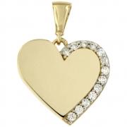 Hanger hart goud met zirconia 256120023