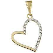 Hanger hart goud met zirconia 256120024