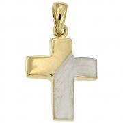 Hanger kruis bicolour goud VI8 0936