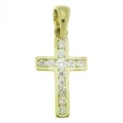 Hanger kruis met zirconia VI8 0506