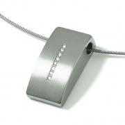 0718-02 hanger met 0.04 crt briljant titanium Boccia