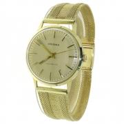 42.0 gouden herenhorloge Prisma met gouden band mechanisch