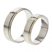 56.00248 trouwringen goud met zilver Amorio