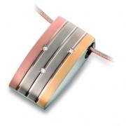 0792-02 tricolour titanium hanger met briljant