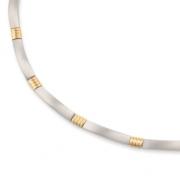 0877-02 Boccia collier titanium met verguld