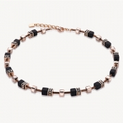 1328 collier Black-Rosegold Coeur de Lion 4015101328