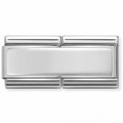 33071001 dubbele graveerplaat zilver Nomination