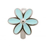 41155-5 Endless Light Blue Enamel Flower Silver Charm