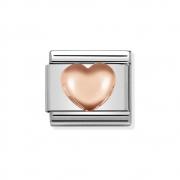 43010422 hart Nomination schakel 9 krt. rosé