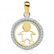 Hartendiefje MED020 gouden hanger Boy