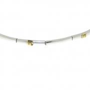 .8.6 gram wit- met geelgouden armband