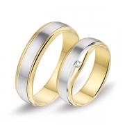 0367 Alliance trouwringen met 0,04 crt. briljant 5,5 mm