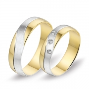 0488 Alliance trouwringen met 0,06 crt. briljant 5 mm