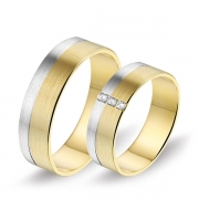0622 Alliance trouwringen met 0,09 crt. briljant 6 mm