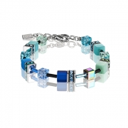 0705 armband Blue Green Coeur de Lion 2838300705
