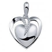 110S zilveren ashanger hart See You