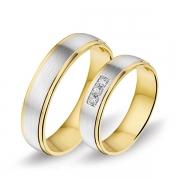 1208 Alliance trouwringen met 0,06 crt. briljant 5 mm