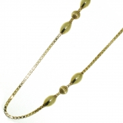 14.1 gram gouden chanel collier 79 cm lang