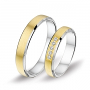 1410 Alliance trouwringen met 0,1 crt. briljant 4 mm