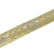 40.9 gram drie kleuren gouden armband