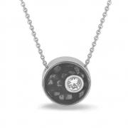 709S zilveren ashanger met zichtbare as in hars