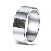 RS008 strakke stalen ring met as voor hem en haar