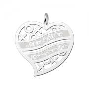 ZFH06 zilveren naamhanger familie hart
