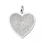 ZHEV001 zilveren naamhanger vingerafdruk