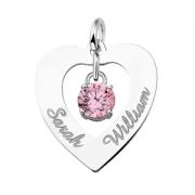 ZNH09 zilveren naamhanger hart